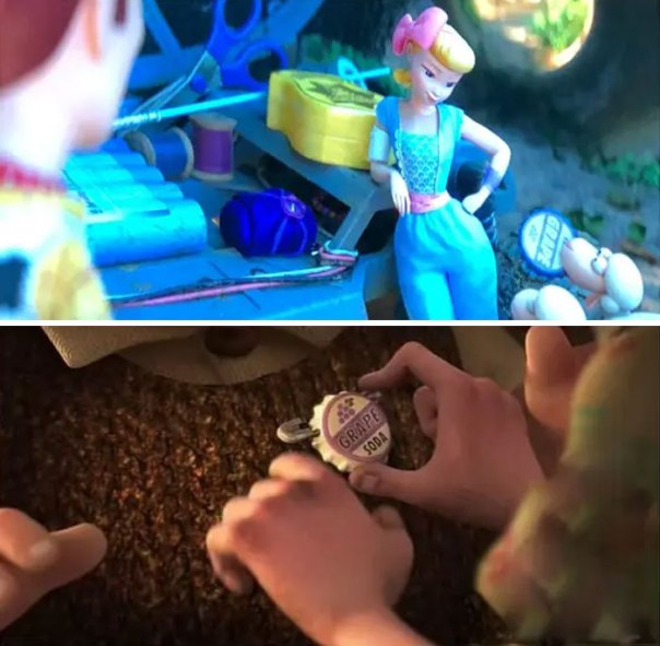 The Grape Soda Cap From Up Makes A Quick Appearance When Bo Peep's Sheep Find It On The Playground