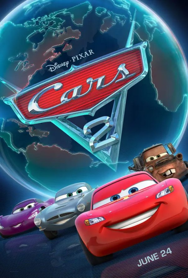The Globe On The Cars 2 Poster Features A Country Shaped Like A Car. It's Right Next To Cuba...in The Car-Ibbean