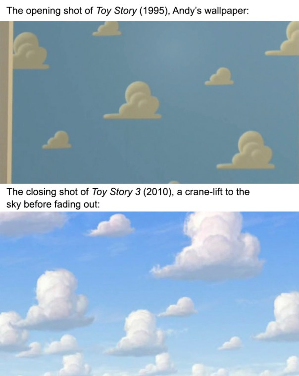 That Pixar Touch. The Closing Shot Of Toy Story 3 Recalls The Opening Shot Of Toy Story 1- Andy's Wallpaper