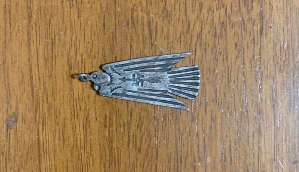 Small Silver Fob- Nazi Or Navajo