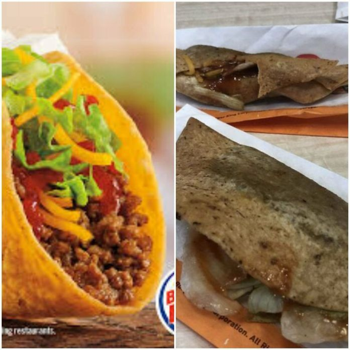 I Know That Fast Food Never Looks Like The Picture, Come On Burger King. This Makes Taco Bell Look Like A Gourmet Restaurant