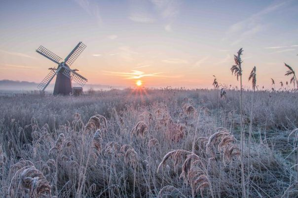 Classic View Commended: David Andrews, 'Herringfleet Frosty Sunrise', Suffolk