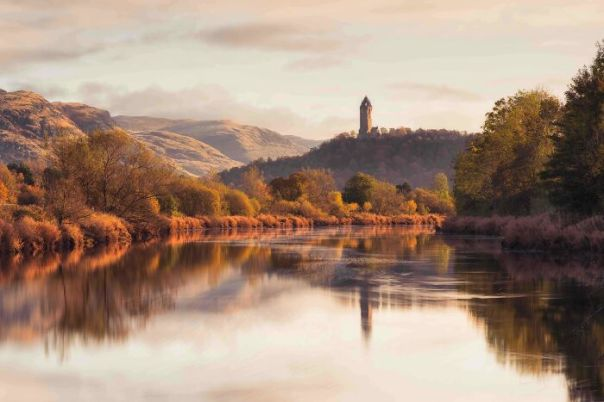 Historic Britain Winner: Graham Mackay, 'Wallace Monument From The Banks Of The Forth', Stirlingshire