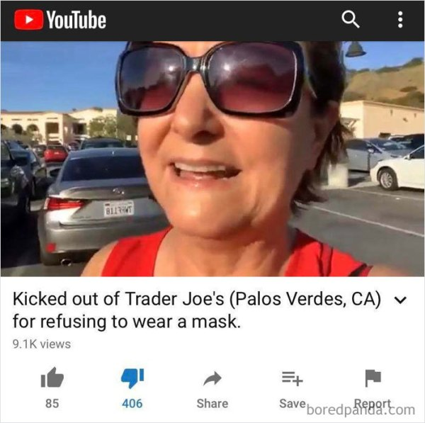 "Karen Goes To Trader Joe's Without A Mask, Employees Ask Her To Put On A Mask Or Leave, She Refuses & Makes A Commotion Because It's Her ""Civil Liberty"", Then Posts It On Youtube"