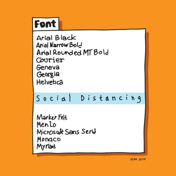 Social Distancing Font