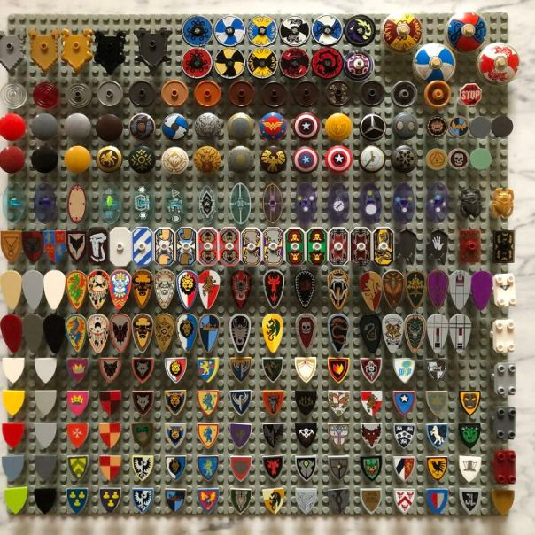 My 100% Complete Collection Of Every LEGO Shield Ever Made