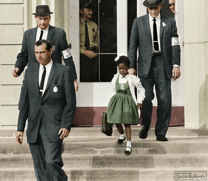 Ruby Bridges, The First African-American To Attend A White Elementary School In The Deep South, 1960