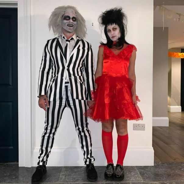 Emma And Matt Willis As Ghoulish Characters From 1988 Movie Beetlejuice