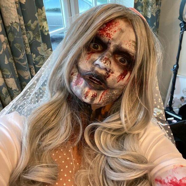 Kerry Katona As A Gothic Bride