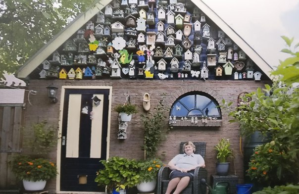 My Grandma With Her Birdhouse Collection