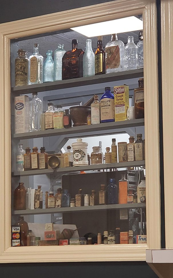 Local Pharmacy Has A Display Of Antique Medicines