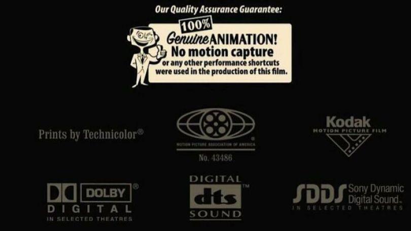 """Depois de Carros (2006), perdeu o Oscar de melhor filme de animação para Happy Feet (2006), que utilizou a captura de movimento, a Pixar colocou uma """"garantia de qualidade"""" no final de seu próximo filme Ratatouille (2007) para lembrar a academia que eles Anime cada quadro de seus filmes manualmente"""