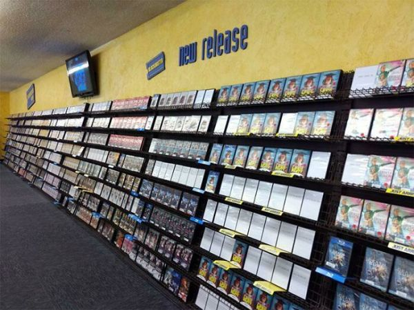 Checking The New Release Section In Blockbuster