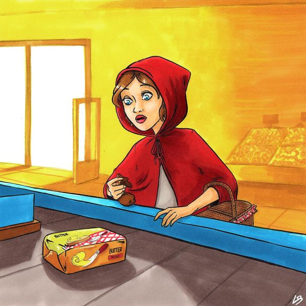 The Little Red Riding Hood And Butter