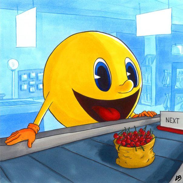 Pac-Man And Cherries