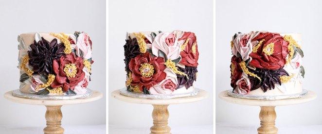 Black Dahlia Cake