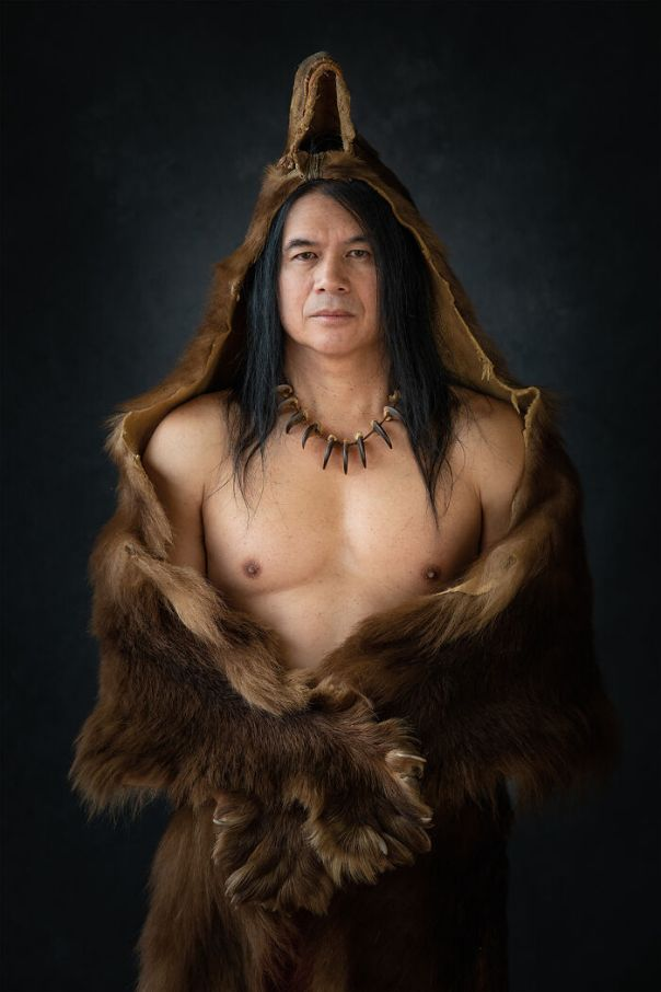 In The Belly Of The Bear (After A Photograph By Edward S. Curtis), Rodrigo, Chickasaw