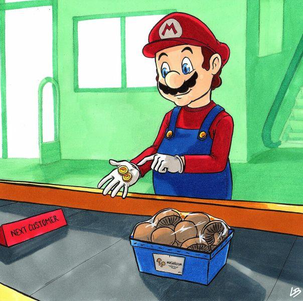 Mario And Mushrooms