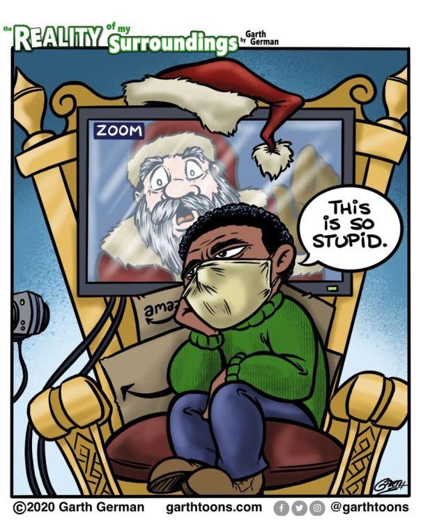 Zoom Santa