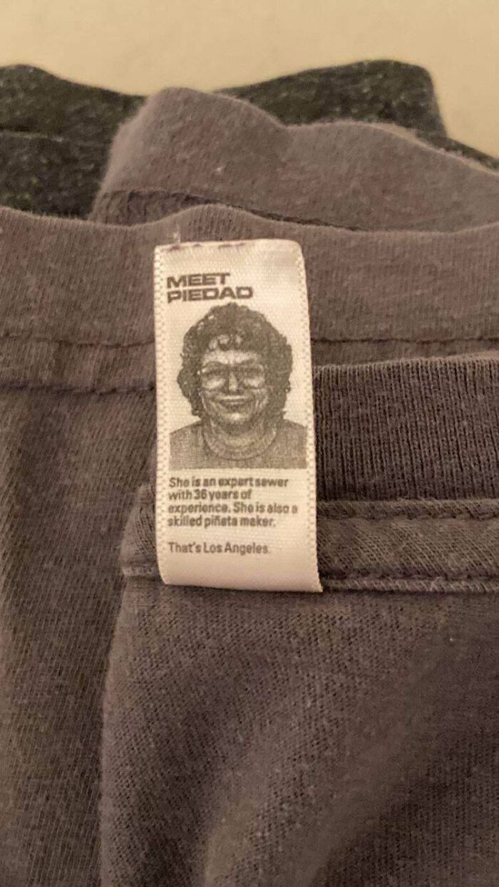 The Tag On My New Belgium Brewing Shirt Has A Picture Of The Lady Who Sewed It