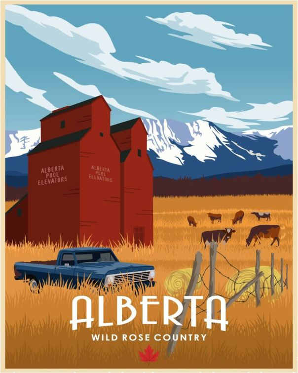 """Alberta... The """"Texas"""" Of Canada. Open Sky, The Canadian Rockies, Lots Of Cattle And Farm Land And Vast Space In Between."""