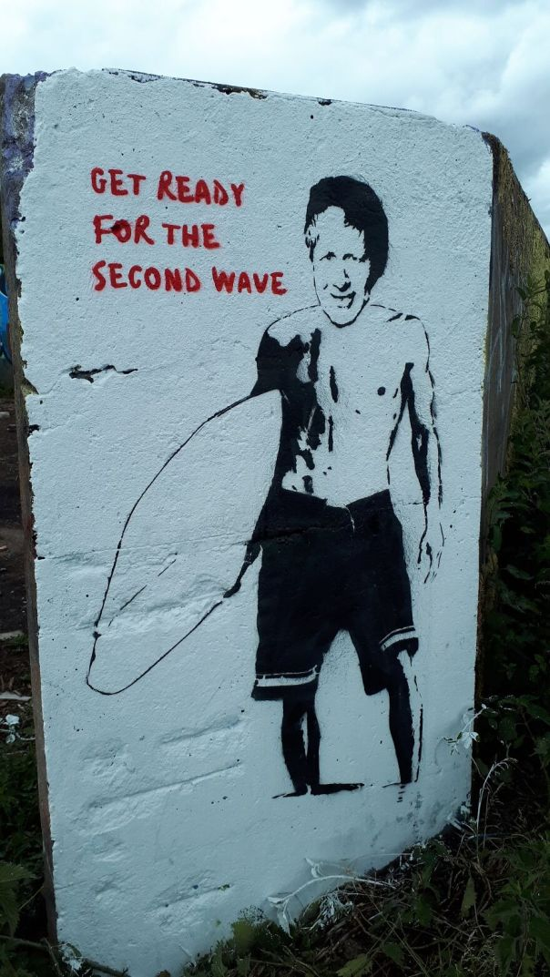 Get Ready For The Second Wave.painted In Bristol