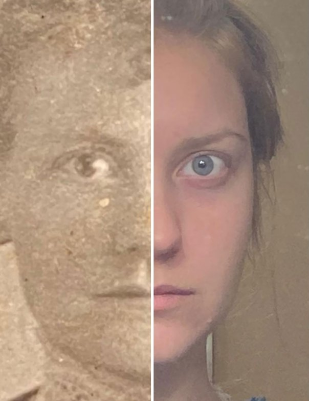 What Changes In 122 Years? Found A Photo Of My Great Great Grandmother. Thought She Looked Familiar