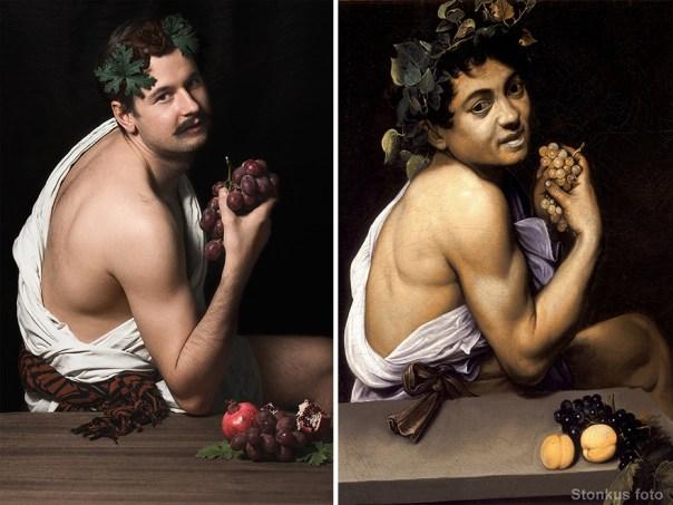 """Michelangelo Merisi Da Caravaggio """"Young Sick Bacchus (Bacchino Malato)"""" (1593/1594)"""