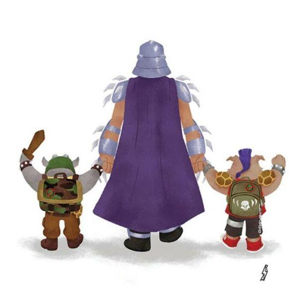 Teenage Mutant Ninja Turtles (Shredder Family)