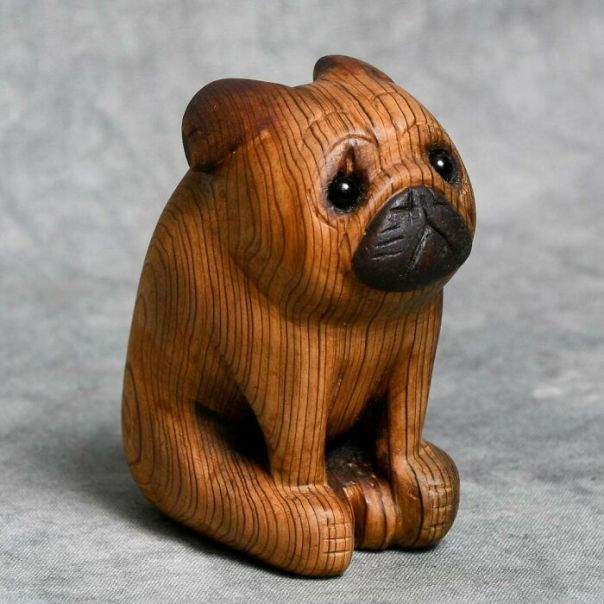 Carved From Salvaged Barn Wood As A Gift For My Friend Who's Pug Recently Passed