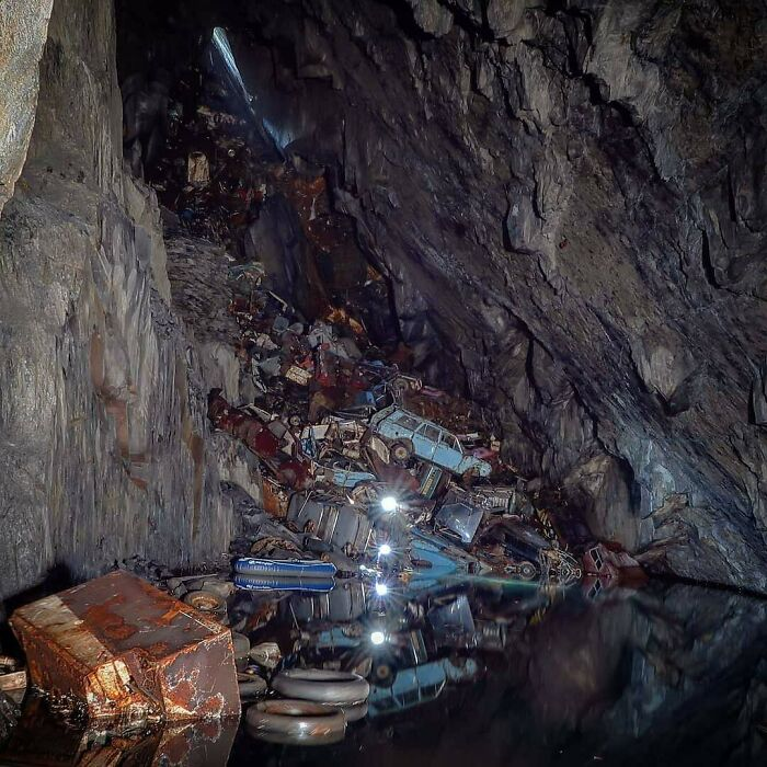 This Cave Full Of Old Cars