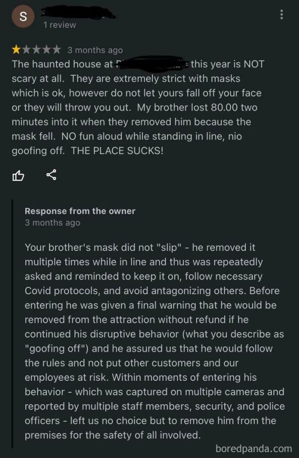 I Found This Review From A Local Haunted House Attraction. There Were Quite A Few Negative Reviews Just Because They Had To Follow Covid Guidelines