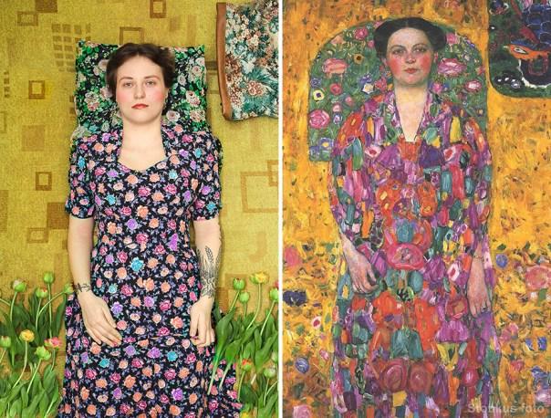 "Gustav Klimt ""Portrait Of Eugenia Primavesi"" (1913)"