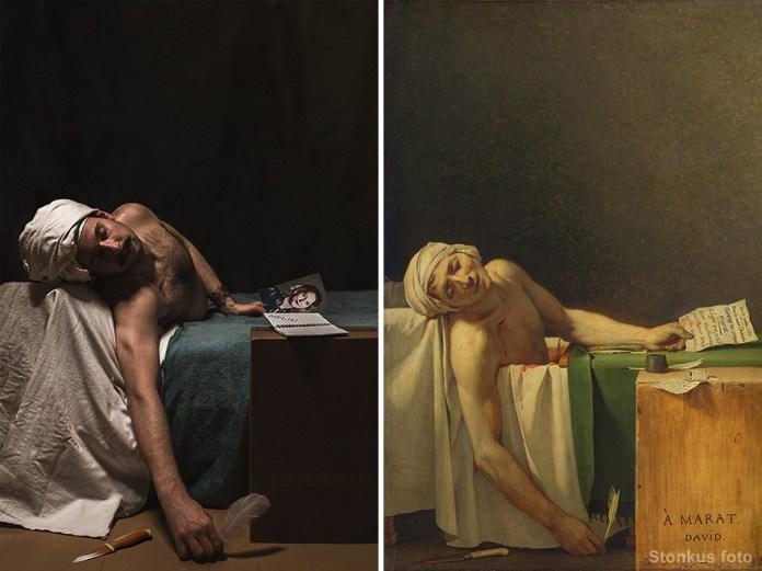 """Jacques-Louis David """"La Mort De Marat"""" (1793)"""