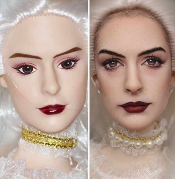 Artist Remakes The Dolls' Makeups To Make Them More Realistic