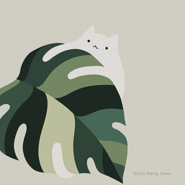 Cat + Monstera = Meowstera!