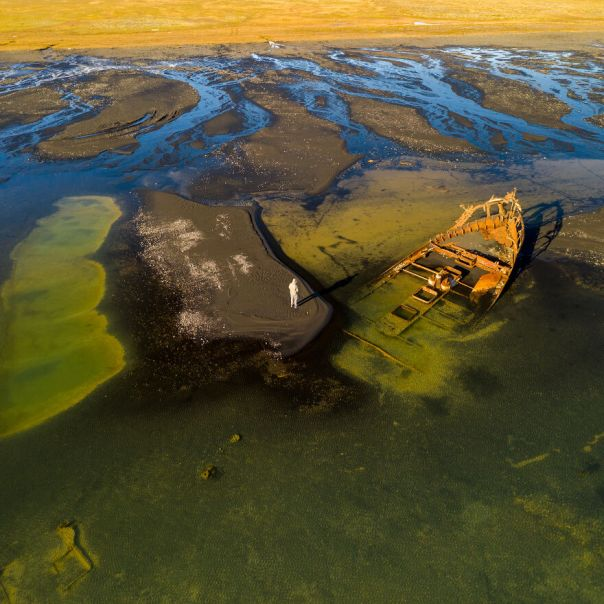 Shipwreck On South Coast Of Iceland