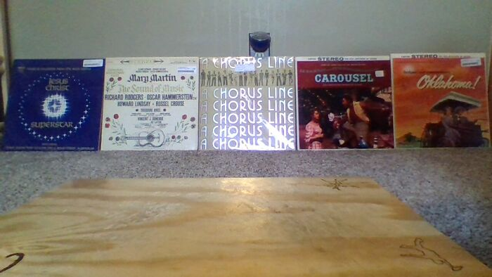 My Musical Vinyls! I Screamed When I Found A Chorus Line (Ignore The Tap Board In Front)