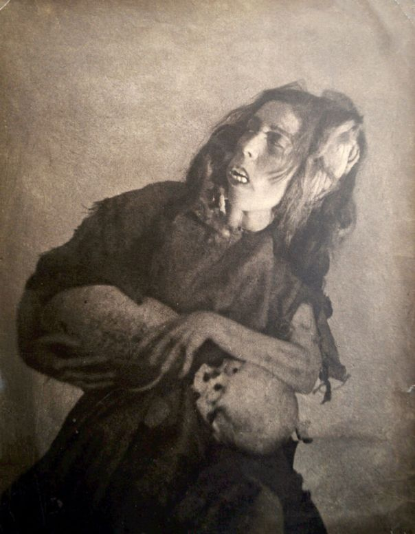 "William Mortensen ""The Old Hag"" Unique Bromide Print 1928"