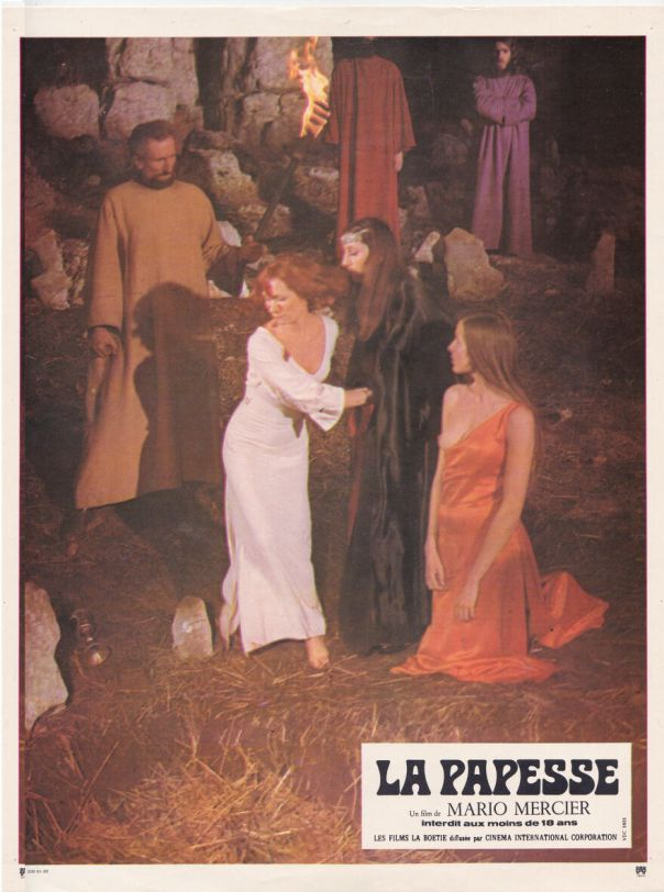 "Mario Mercier Vintage Lobby Card For ""La Papesse"" 1975"