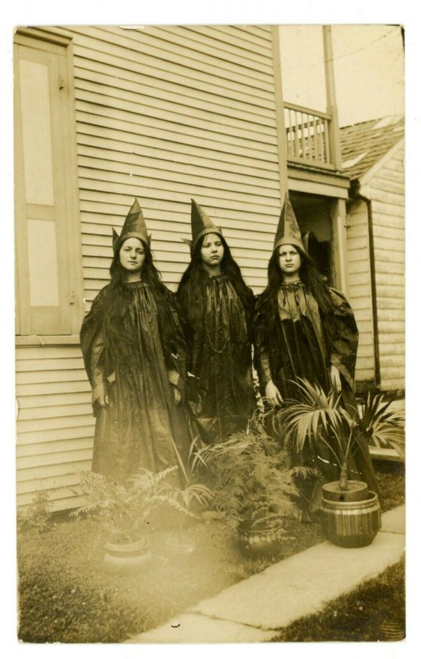 Vintage Snapshot Circa 1930's 'Three Witches""