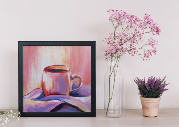 Abstract Acrylic Painting Of Coffee - Interior Poster Option