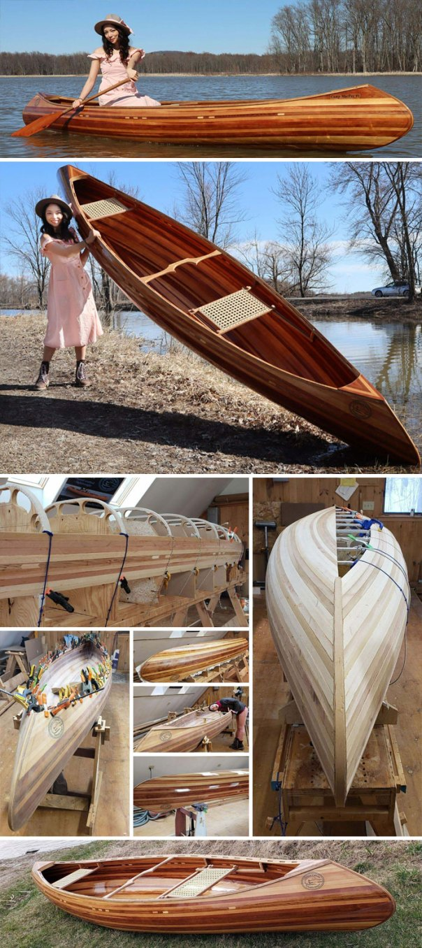 Maiden Voyage Of My First Cedar Strip Canoe! No Kit, No Plans, No Staples