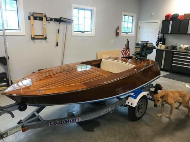 """Boat I Made In My Garage. Plans Are From Glen-L Boat Plans. This Is The """"Squirt"""" 10 Footer. Took Me 2 Years To Make. I Had A Blast Making It"""