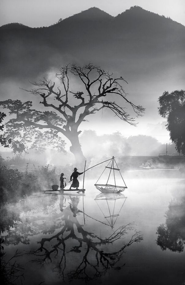 Myanmar Winner: 'Foggy Morning Fishing', By Min Min Zaw