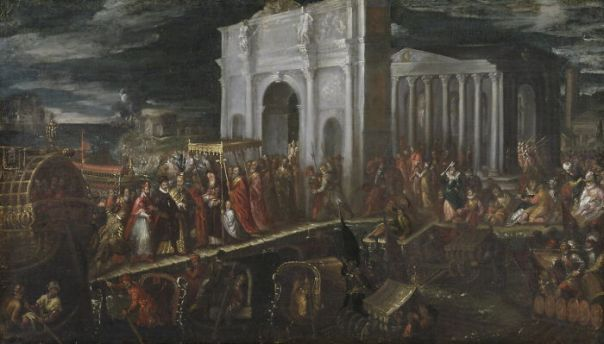 Reception Of The Duke Of Anjou By The Patriarch Of Venice At San Nicola Di Lido, July 18, 1564 By Michieli, Andrea (1564 - 1600)
