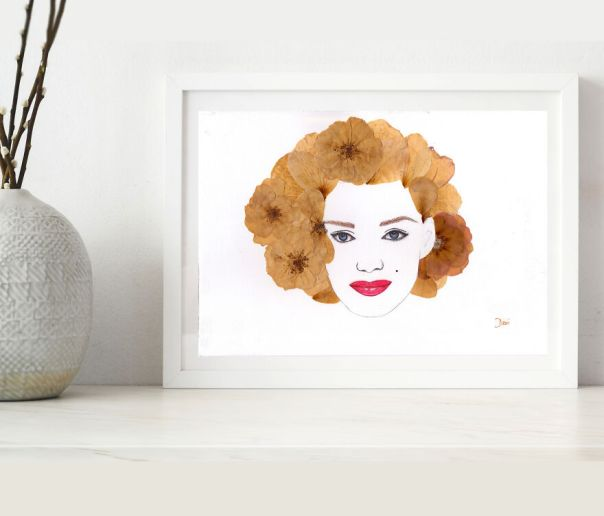 Marilyn Monroe Made From Pressed Roses