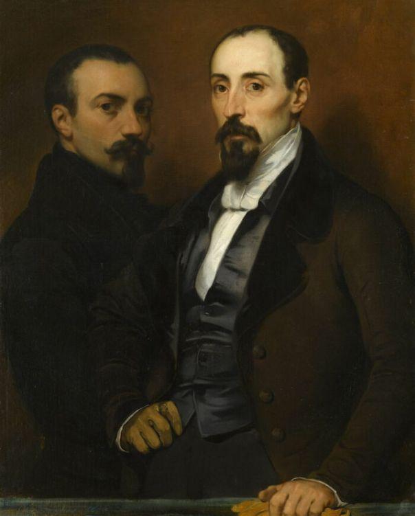 Portrait Of The Artist And His Brother Achilles By Devéria, Eugène (1836)