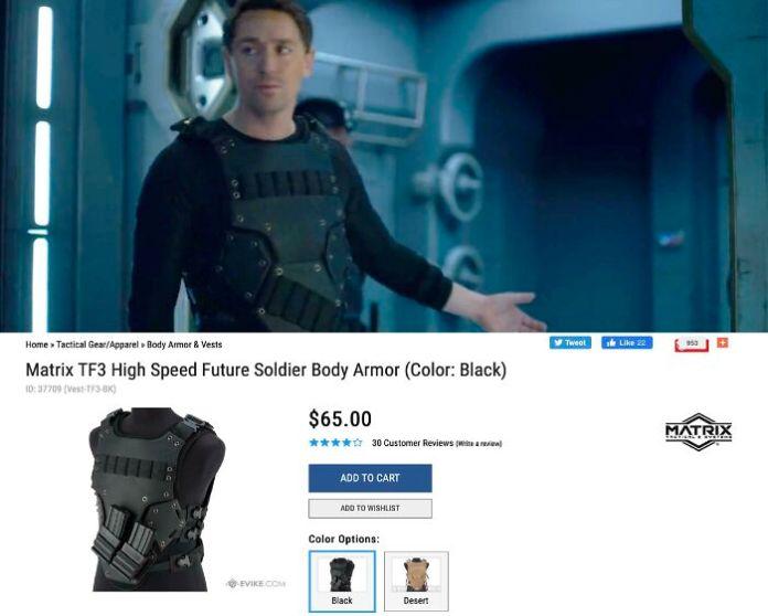 [tv] В фильме Netflix «Затерянные в космосе» [2019] Члены военной бригады носят жилет для страйкбола из пенопласта за 65 долларов