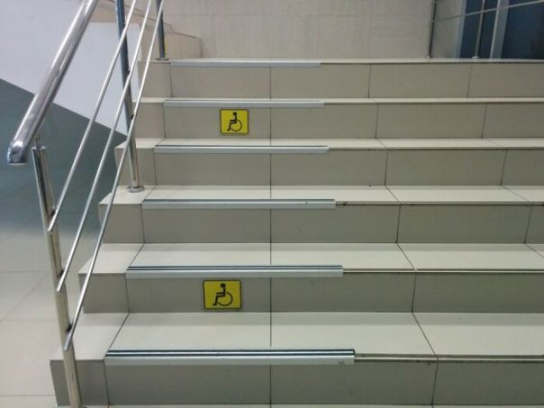 Access For Wheelchairs On These Stairs